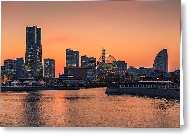 Yokohama 03 Greeting Card by Tom Uhlenberg