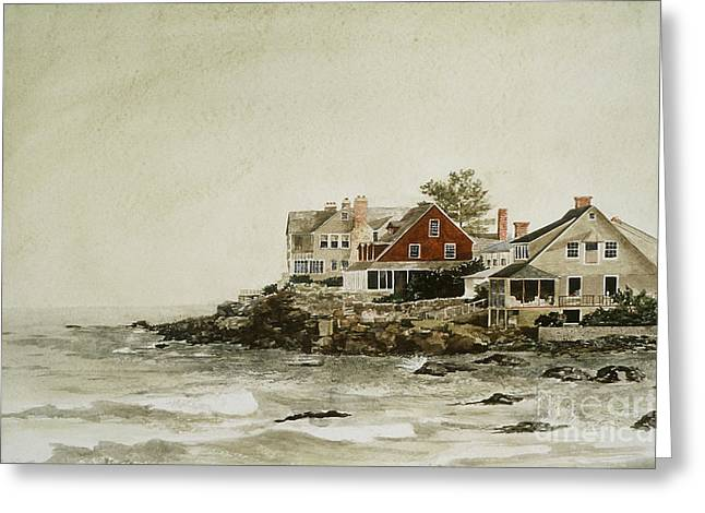 York Beach Paintings Greeting Cards - York Beach Greeting Card by Monte Toon