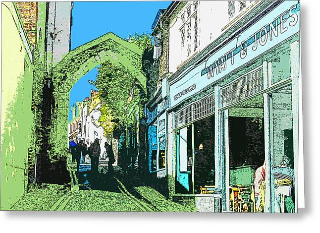 Smuggling Digital Art Greeting Cards - York Gate Broadstairs Greeting Card by Jeff Laurents