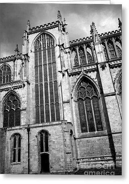 Minster Abbey Greeting Cards - York Minster Greeting Card by Deborah Benbrook