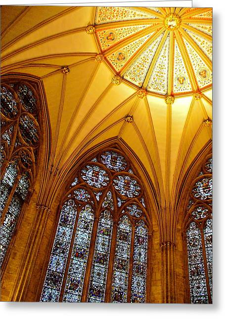 Minster Abbey Greeting Cards - York Minster Greeting Card by Jody Partin
