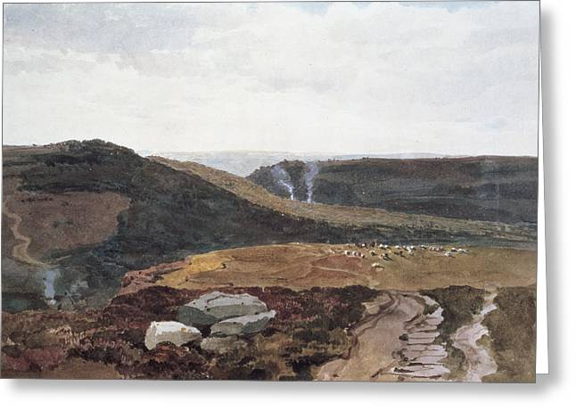 Heather Paintings Greeting Cards - Yorkshire Fells, C.1840 Greeting Card by Peter de Wint