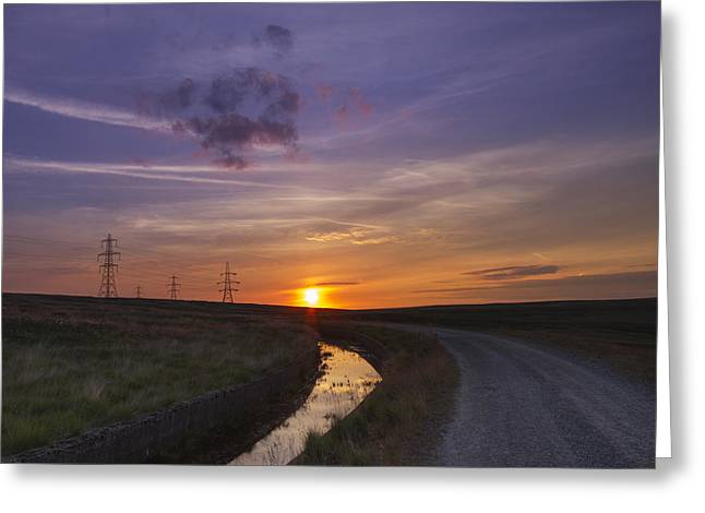 Yorkshire Sunset  Greeting Card by Chris Smith