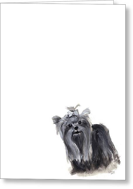 Yorkshire Terrier Greeting Card by Barbara Marcus