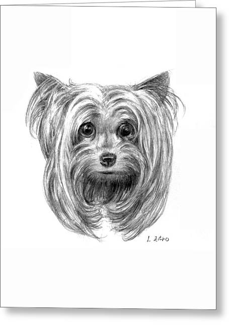 Hypoallergenic Greeting Cards - Yorkshire Terrier Greeting Card by Lou Ortiz