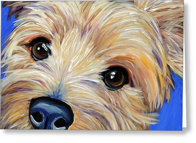 Yorkshire Terrier Greeting Card by Melissa Smith