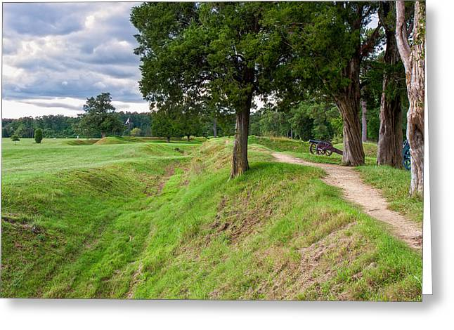 American Independance Photographs Greeting Cards - Yorktown Battlefield Earthworks Greeting Card by John Bailey