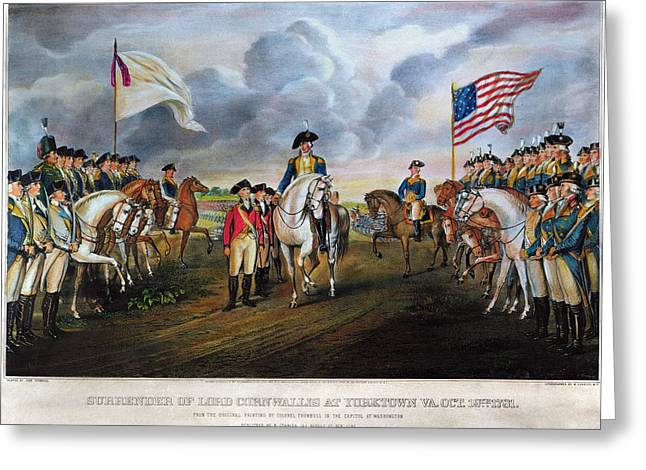 O Lord Greeting Cards - Yorktown: Surrender, 1781 Greeting Card by Granger