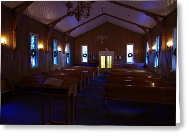 Mariposa County Greeting Cards - Yosemite Chapel Christmas Greeting Card by Scott McGuire