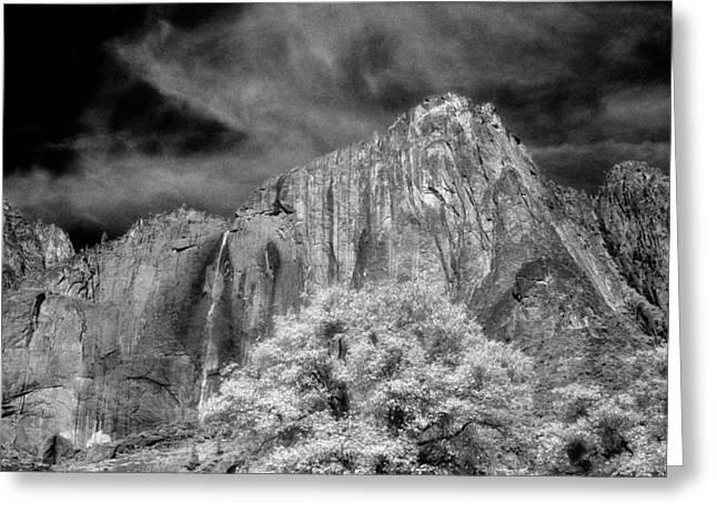 Red Granite Greeting Cards - Yosemite Falls 2 Greeting Card by Mark Greenberg