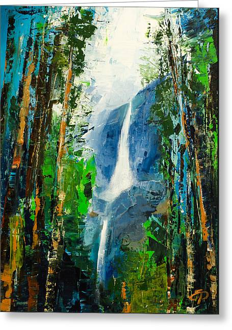 Californian Greeting Cards - Yosemite Falls Greeting Card by Elise Palmigiani