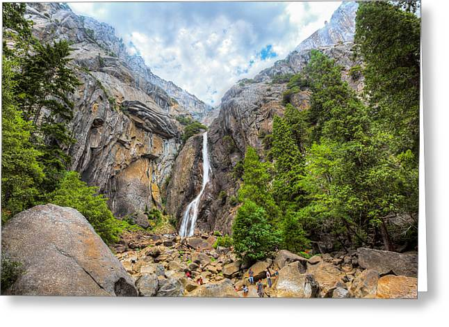 California Tourist Spots Greeting Cards - Yosemite Falls Greeting Card by Jerome Obille