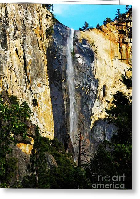 Yosemite National Park Greeting Cards - Yosemite Falls Greeting Card by Laraine  C Photography