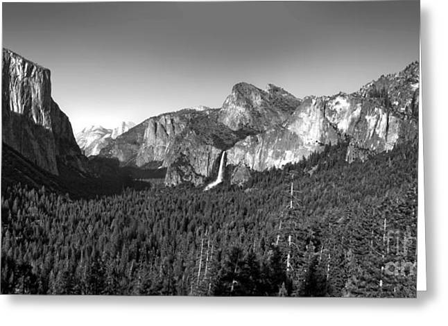 Gregory Dyer Greeting Cards - Yosemite Inspiration Point Greeting Card by Gregory Dyer