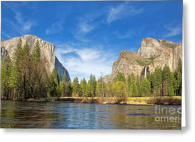Cathedral Rock Greeting Cards - Yosemite Greeting Card by Jane Rix