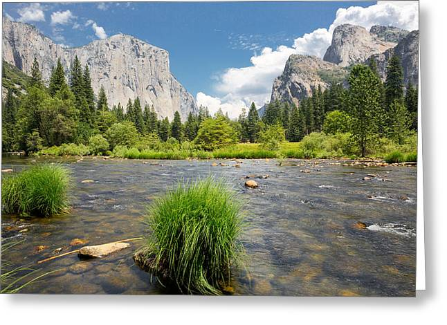 Best Sellers -  - California Tourist Spots Greeting Cards - Yosemite Greeting Card by Jerome Obille