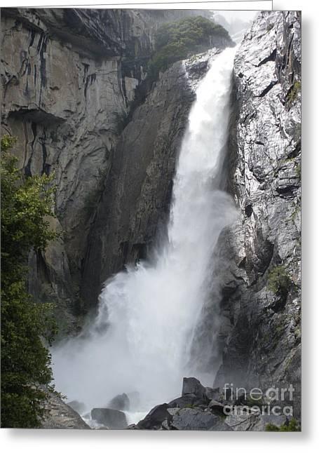 Yosemite Greeting Cards - Yosemite Lower Falls Greeting Card by Henrik Lehnerer