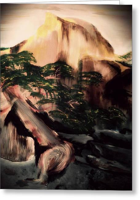 Yosemite Greeting Card by Magdalena Silbertson