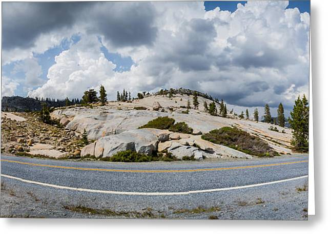 California Tourist Spots Greeting Cards - Yosemite Mountain Highway Greeting Card by Jerome Obille