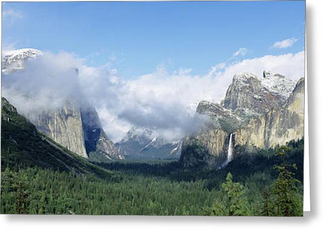Bridal Veil Greeting Cards - Yosemite National Park Ca Usa Greeting Card by Panoramic Images