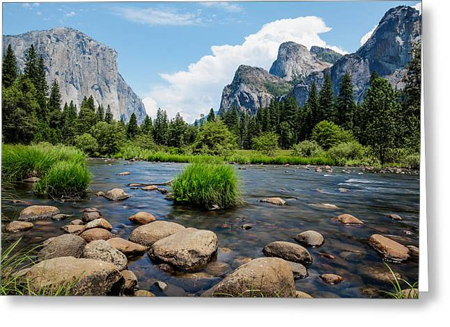 California Tourist Spots Greeting Cards - Yosemite National Park River View Greeting Card by Jerome Obille