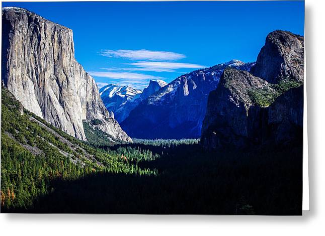 Cathedral Rock Greeting Cards - Yosemite National Park Tunnel View Greeting Card by Scott McGuire
