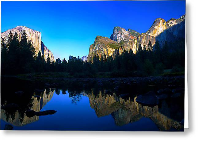 Digitally Manipulated Greeting Cards - Yosemite Reflections Greeting Card by Bill Caldwell -        ABeautifulSky Photography