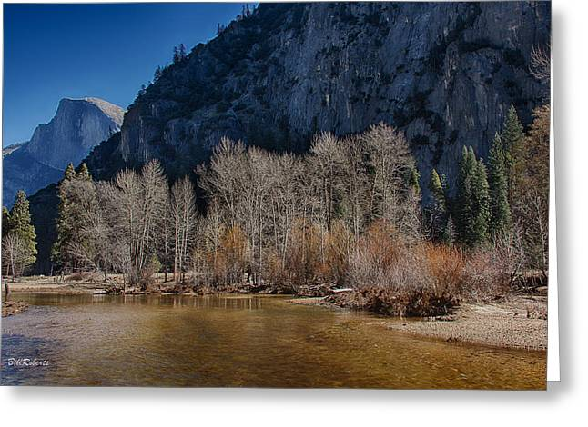 Half Dome Greeting Cards - Yosemite Scene Greeting Card by Bill Roberts