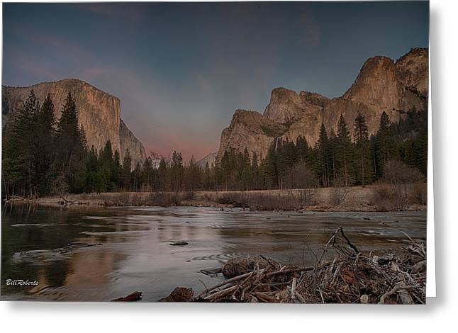 Yosemite Sunset Greeting Card by Bill Roberts