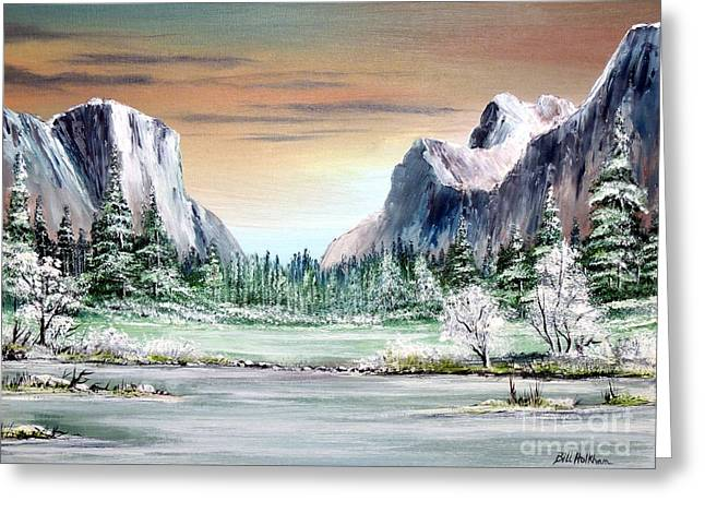 Cathedral Rock Greeting Cards - Yosemite Valley Artist Point Greeting Card by Bill Holkham