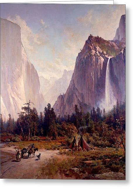 Artistic Photography Drawings Greeting Cards - Yosemite Valley Greeting Card by Celestial Images