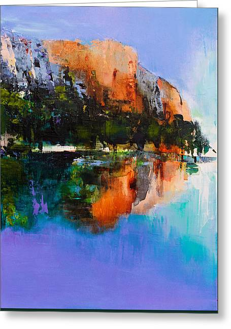 Blue Green Water Greeting Cards - Yosemite Valley Greeting Card by Elise Palmigiani