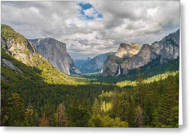 Yosemite Greeting Cards - Yosemite Valley Greeting Card by Sarit Sotangkur