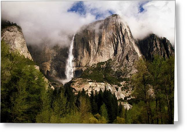 Mountain Valley Greeting Cards - Yosemite Valley View Greeting Card by Donna Kennedy