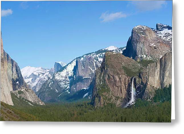 Visualize Greeting Cards - Yosemite Valley Visualized Greeting Card by Gregory Scott