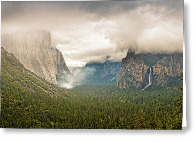 Forest Fire Greeting Cards - Yosemite Valley With A Controlled Burn Greeting Card by Panoramic Images