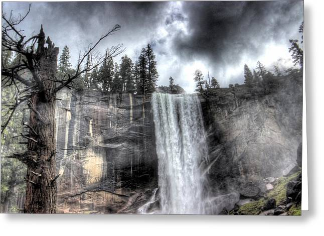 Storm Prints Digital Art Greeting Cards - Yosemite vernal falls Greeting Card by Eitan Malki