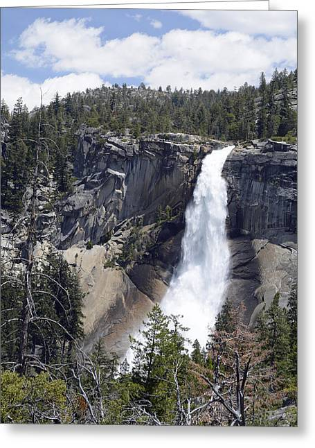 Yosemite's Nevada Fall Greeting Card by Bruce Gourley