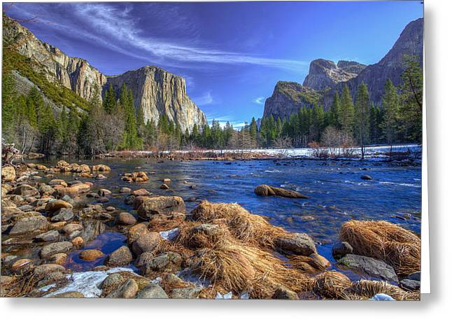 Mike Lee Greeting Cards - Yosemites Valley View Greeting Card by Mike Lee
