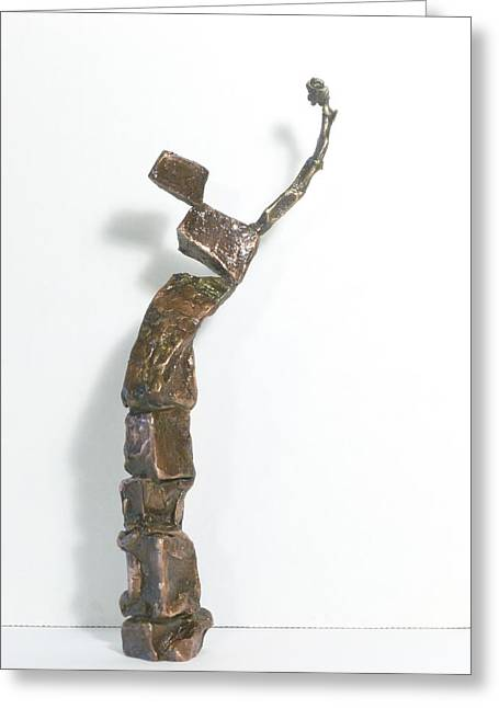 Gestures Sculptures Greeting Cards - You Aint So Much In Fuchin Ill Folk You Puckin Eyes out Greeting Card by Janet  Lipp