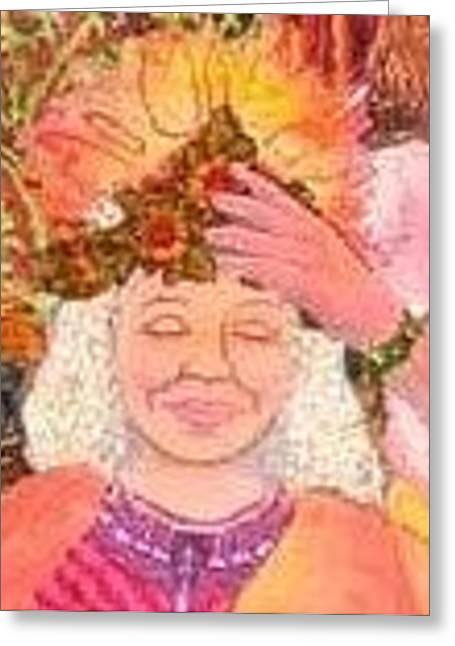 Goddess Tapestries - Textiles Greeting Cards - You are a Goddess Greeting Card by Carol Bridges