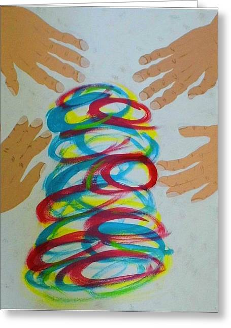 Affirm Paintings Greeting Cards - You are a New Creation in Christ Greeting Card by Margaret Grubic
