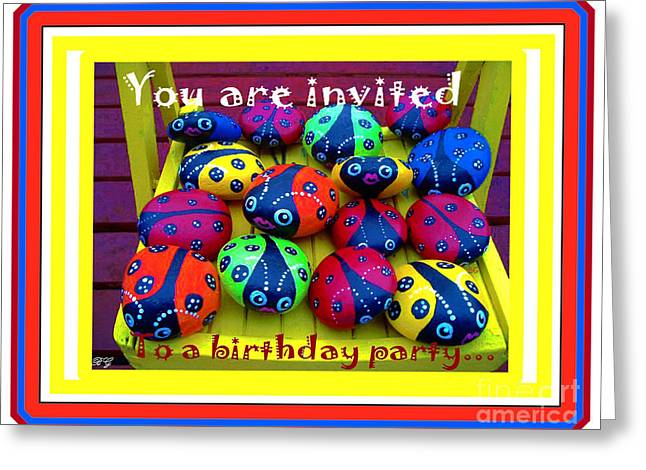 Party Invite Greeting Cards - You are Invited to a Birthday Party Greeting Card by Barbara Griffin