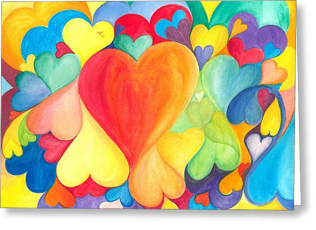 Gioia Greeting Cards - You Are LOVE - Tu Sei AMORE Greeting Card by Gloria Di Simone