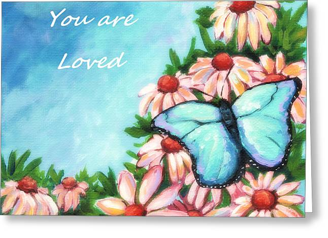 Inner Self Paintings Greeting Cards - You Are Loved Greeting Card by MarLa Hoover