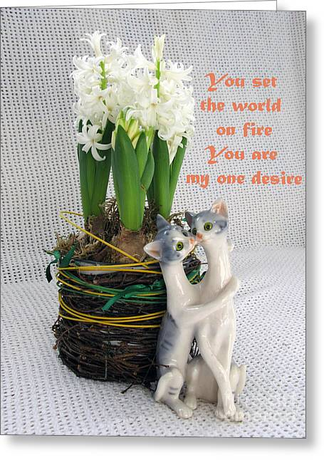 You Are My One Desire Greeting Card by Ausra Huntington nee Paulauskaite