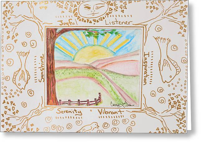 Art-by-cassie Sears Greeting Cards - You are my Sunshine Greeting Card by Cassie Sears