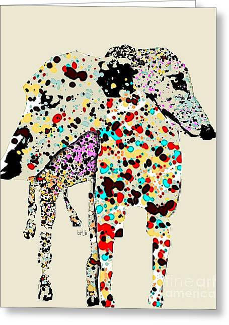 Canine Posters Greeting Cards - You Are Not Alone  Greeting Card by Bri Buckley