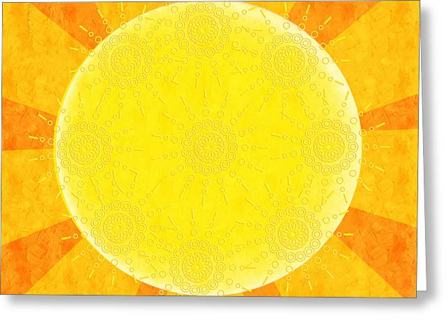 Burning Mixed Media Greeting Cards - You Are The Sunshine Of My Life Greeting Card by Andee Design