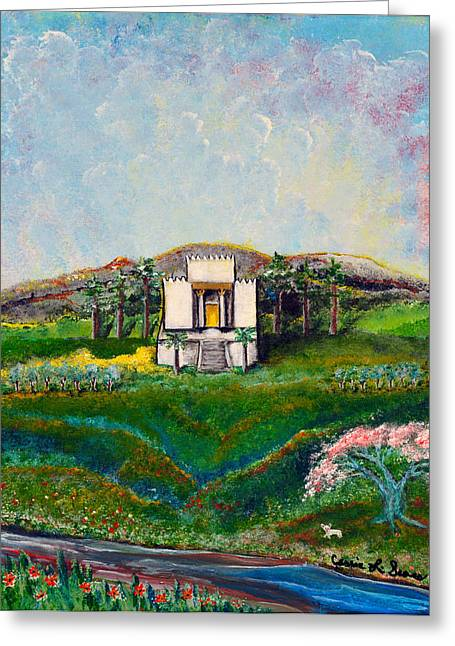 Art-by-cassie Sears Greeting Cards - You are the Temple of GOD Greeting Card by Cassie Sears